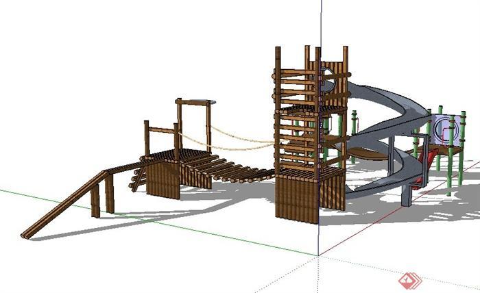 儿童游乐场地设施器材设计su模型[原创]