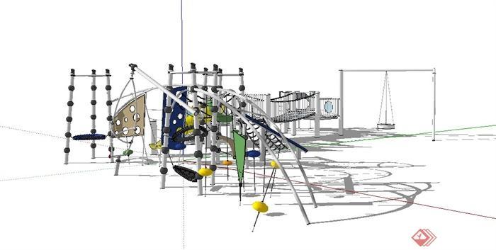 游乐场设备手绘线稿图片