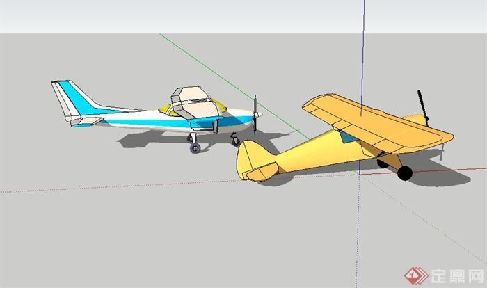 直升飞机设计su模型
