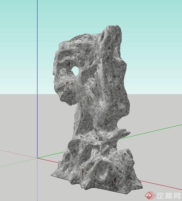 景石小品设计su模型(2)