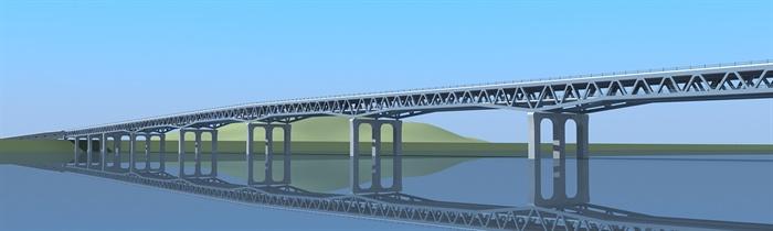 单跨双车道桥梁结构模型
