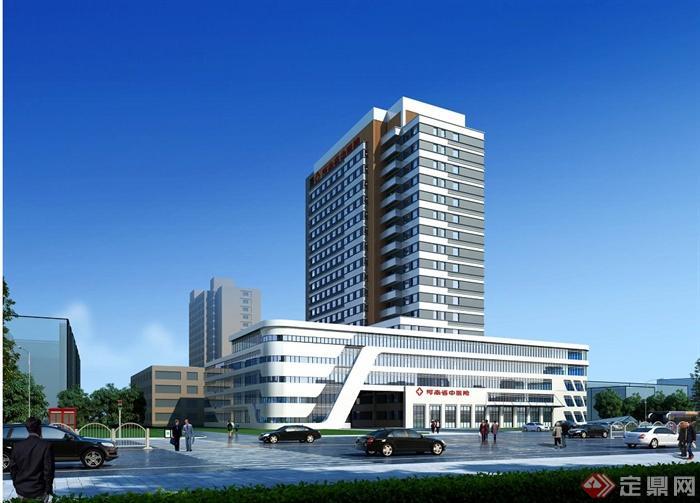现代某高层医院建筑设计jpg效果图[原创]图片