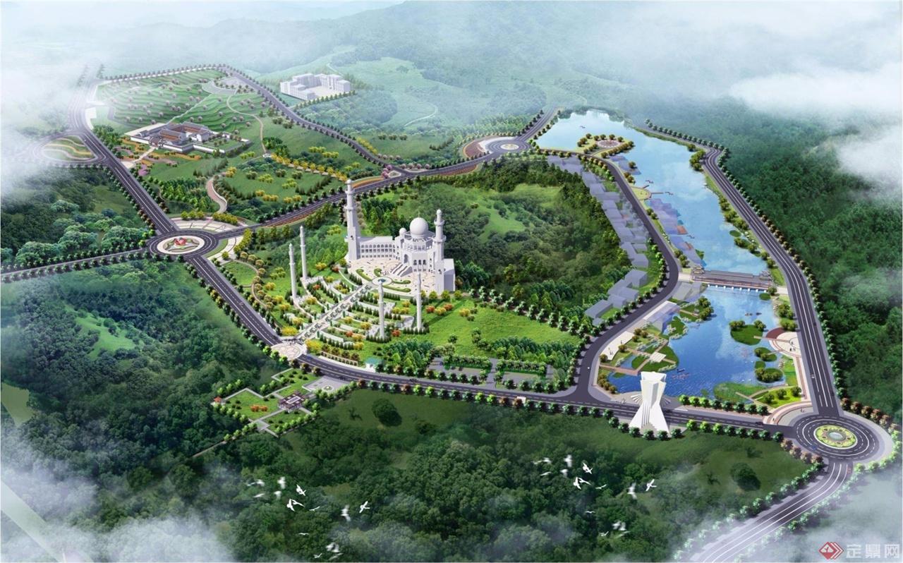 某清真寺公园景观规划设计图片