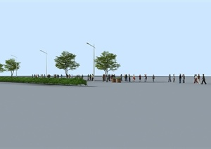 街景路场景设计3DMAX模型