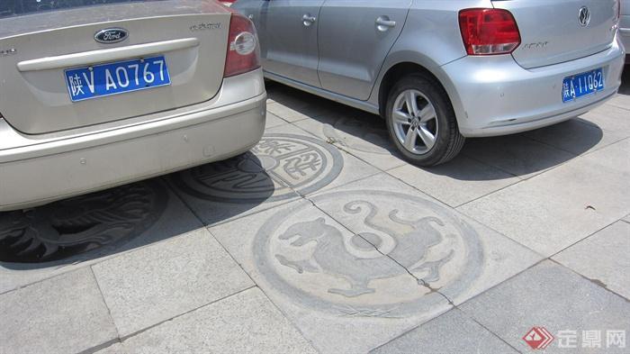 地面鋪裝,停車場位,汽車
