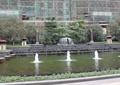 喷泉水池景观,台阶水景,景观柱,花钵,种植池,住宅景观