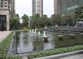 喷泉水池景观,台阶水景,种植池,地面铺装,住宅景观