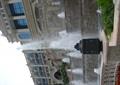 喷泉水景,喷泉水池,水池水景,台阶式跌水景观,围栏,石栏杆