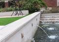 喷泉水景,喷泉水池,水池水景,草坪,景墙