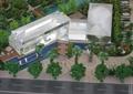 住宅景觀,住宅建筑,景觀樹,道路,沙盤模型