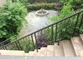 楼梯栏杆,楼梯,树池,铁艺栏杆