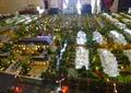 住宅建筑,景观树,路灯,道路,沙盘模型