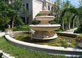 喷泉水池景观,花钵,种植池,花架,住宅景观