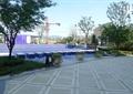 花钵,水池,地面铺装,地面拼花,喷泉
