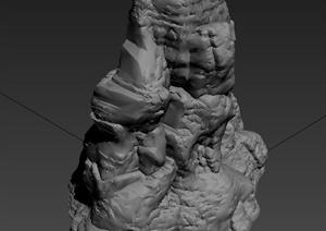 园林景观节点假山置石设计3DMAX模型
