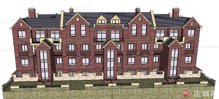 欧式四层双排模型建筑设计SU别墅[原创]著名意大利家具设计图片