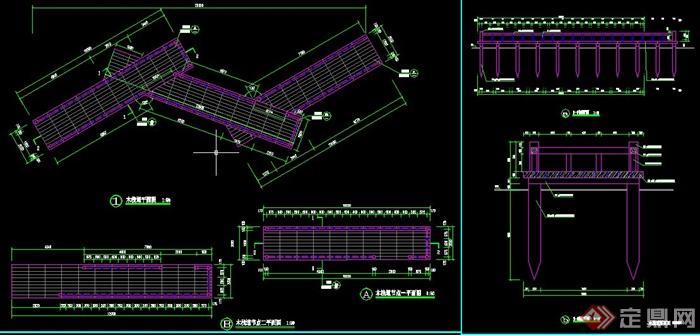 园林木栈道设计cad施工图