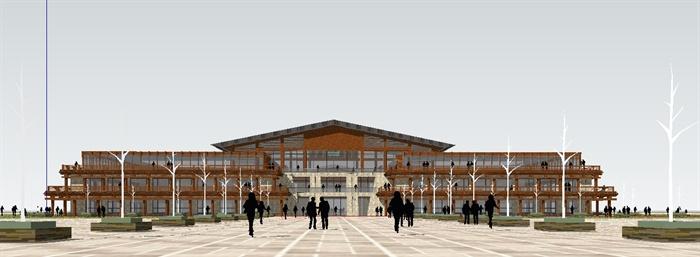 汉唐风格景区入口设计