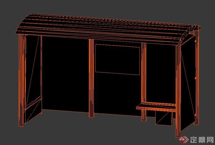 3dmax公交车站建模步骤