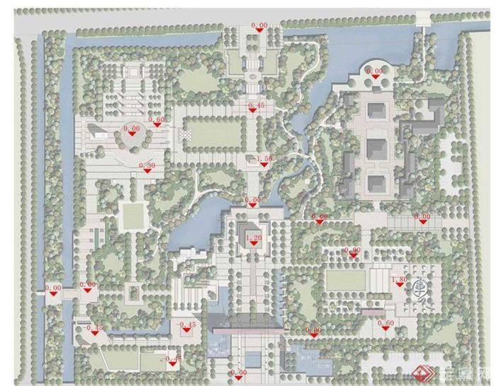 某中式龙兴公园景观规划设计jpg方案图[原创]