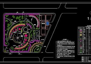 某现代公园小游园设计cad总平面图图片