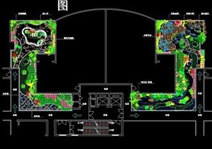 屋顶花园园林景观设计cad总平面图(含植物明细表)-方案图私家别墅