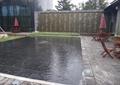 景墙,文化墙,水池景观,地面铺装,桌椅,阳伞,住宅景观