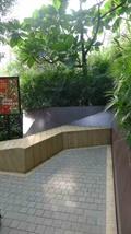 石坐凳,地面鋪裝,標示牌,景觀樹,住宅景觀