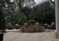 喷泉水池景观,地面铺装,桌椅,住宅景观
