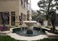 喷泉水池景观,海马雕塑,住宅景观