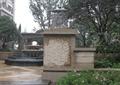 种植池,花卉植物,灯柱,灯箱,台阶,地面铺装,景观树,住宅景观