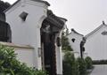 小锤门,地面铺装,灯笼,灌木丛,古建,住宅景观