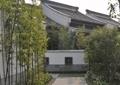 园路,地面铺装,花卉植物,竹子,古建筑