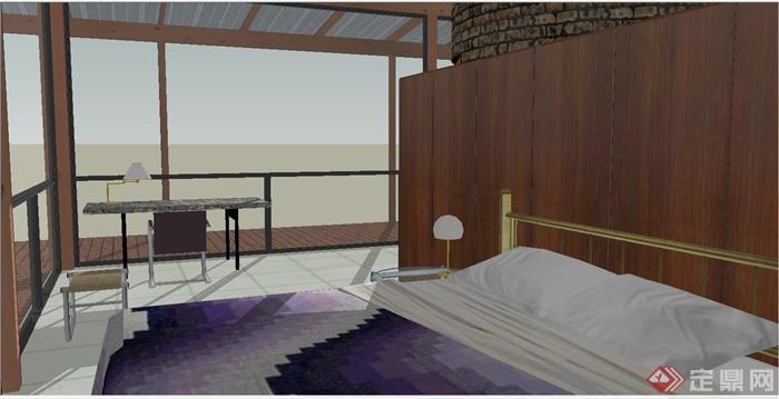 家庭住宅一梯两户建筑设计图展示