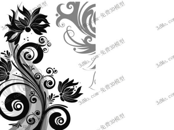 20个好模型墙绘花纹设计3dmax模型5