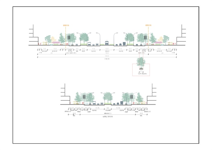 道路景观设计断面图psd图[原创]平面设计助理很难找吗图片