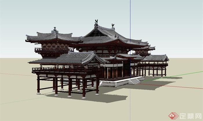 古典中式文化建筑,亭子设计su模型[原创]