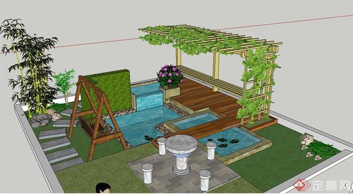 居民区庭院设计内容|居民区庭院设计版面设计