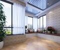 落地窗,盆栽花卉,花卉植物,地面铺装,住宅空间