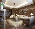 沙发,书籍,地毯,吊灯,装饰画,背景墙,客厅