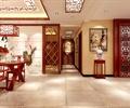 走廊,地面铺装,隔墙,屏风,装饰画,花架,住宅空间