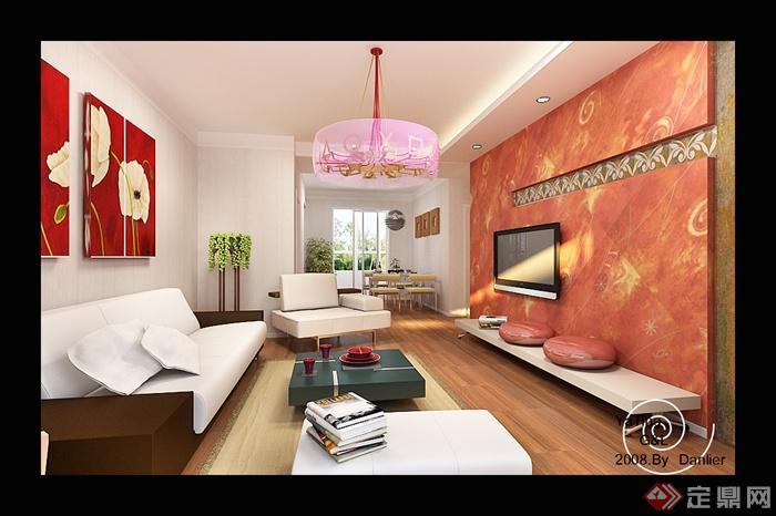 现代沙发室内装修设计图-人物茶几吊灯装饰画经典游戏住宅v沙发图片