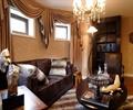 沙发,吊灯,桌子,地灯,摆件,客厅