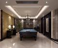 桌球室,镂空隔断,墙纸,装饰柜
