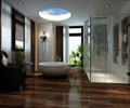浴缸,屏风,椅子,天花吊顶,地面铺装,浴室