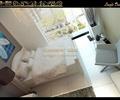 双人床,椅子,地面铺装,地灯,卧室