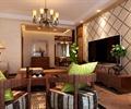 沙發,電視,電視柜,電視背景墻,臺燈,客廳