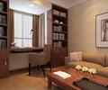 沙发,茶几,办公桌椅,书架,装饰画,书房