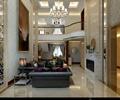 客厅,沙发组合,装饰画,装饰品,电视背景,吊灯,吊顶