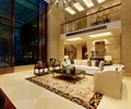 沙發組合,裝飾畫,天花吊頂,鏤空隔斷,客廳